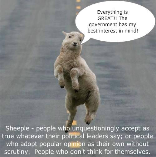Sheeple....