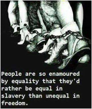 Only in the mind of hopeless liberals does equality exist. It doesn't exist in the real world. Accept it and enjoy the diversity....