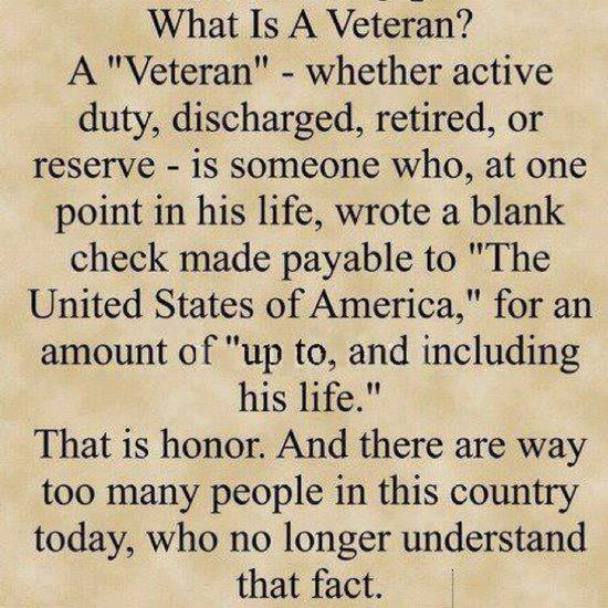 Proud to be a vet! Thomas Madison
