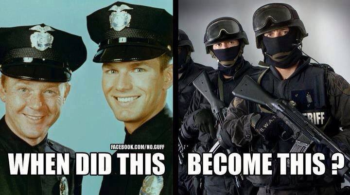 Barney Fife now has a machine gun and all the bullets he wants....