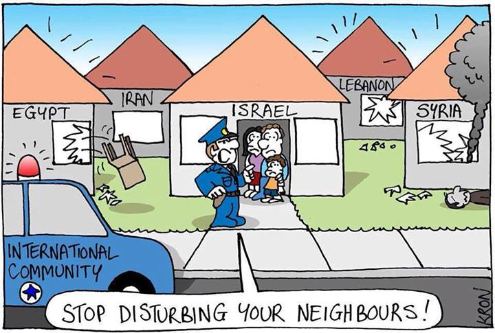 The irony of being Israel....