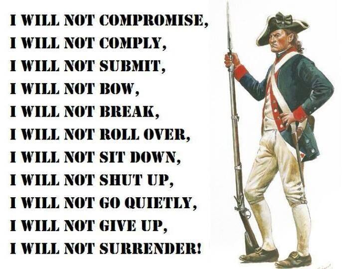 DO NOT SURRENDER!!!!....