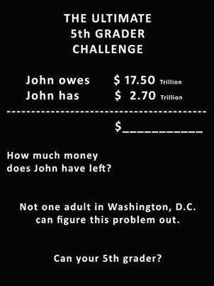 New math, inside the beltway....