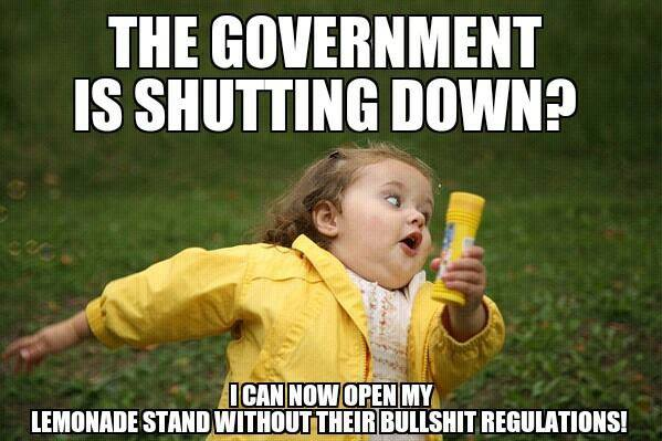 Keep it shut down! Less government is better government!....