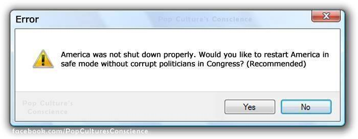 Warning. Your country has been corrupted. Reboot now....