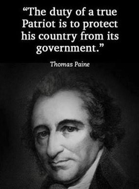 We need a Thomas Paine right now, BAD! I always thought Rush Limbaugh was kind of our modern Thomas Paine, but American apathy persists....