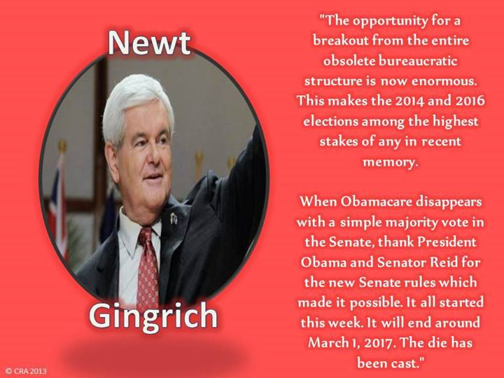 I hope you are right, Newt. My dream ticket for 2016 is Gingrich/Gowdy....