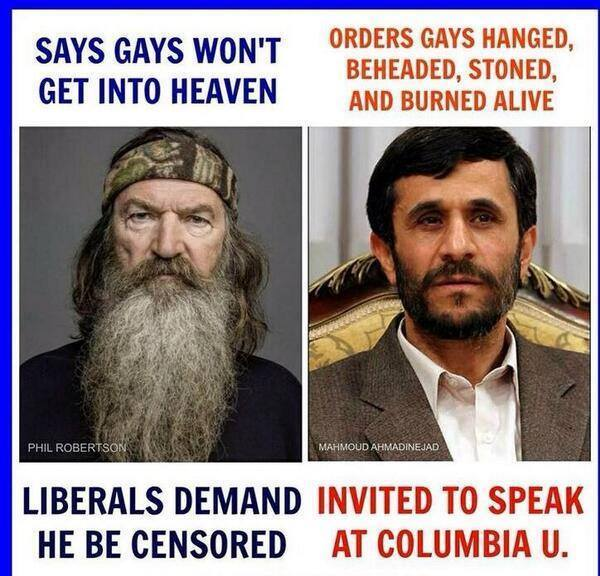 The hypocrisy of the left! Why the hypocrisy, you ask? Because Imadamnutjob hates America, which forgives all else in the eyes of liberals.