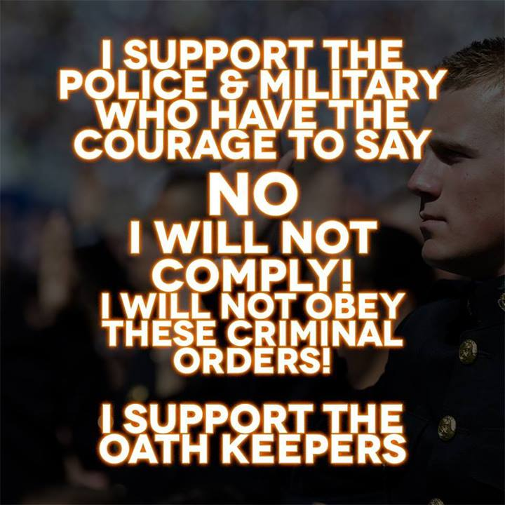 Oathkeepers understand our Constitution and the difference between a lawful order and an unlawful order. God Bless you all!....