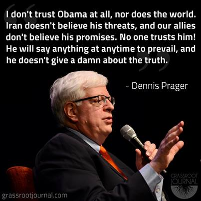 NO ONE (with any sense) trusts Obama!....