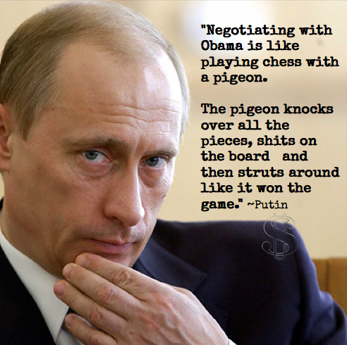 Putin has ZERO respect for Obama, and rightly so....