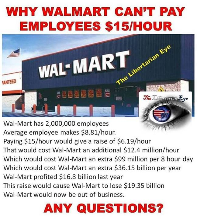 For those too stupid to see the problem with increasing the minimum wage, here's the math....