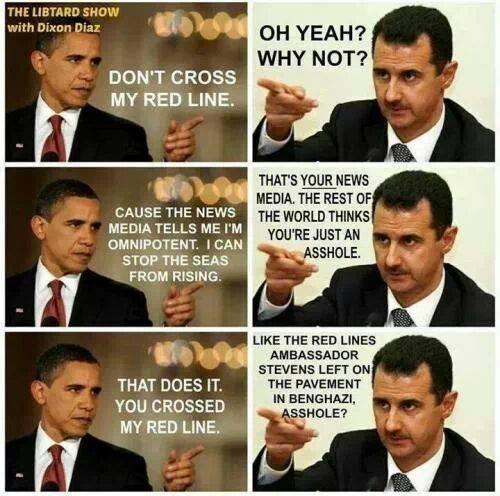 Obama's red line....