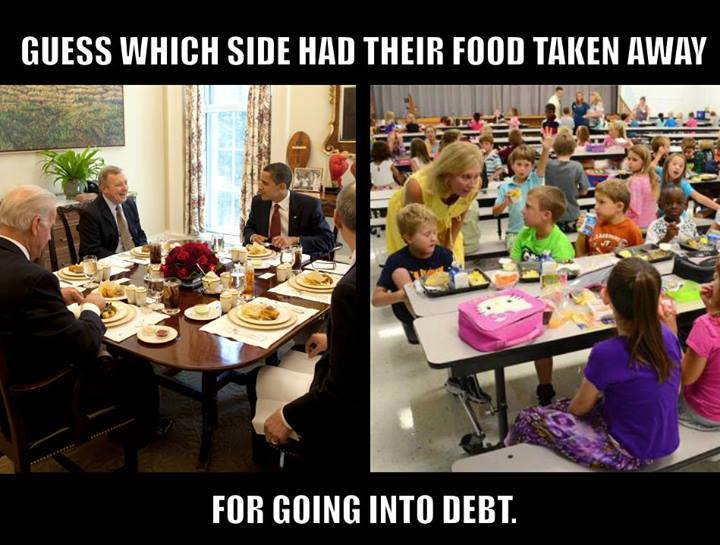 The parasites on the left are enjoying a fine meal, at the expense of the parents of the hungry kids on the right....