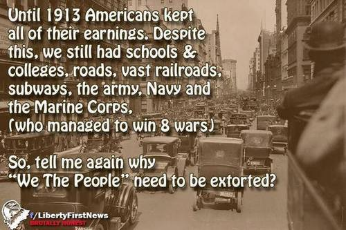 We don't need to be extorted. In the early years of our republic we relied primarily on tariffs to fund our federal government. Going back to an import tariff will eliminate our trade deficit, generate billions of dollars in revenue, make American manufacturing relevant, competitive, and superior again, eliminate our need to borrow, and create millions of new jobs. We just need to elect leaders  who think America first instead of their next election first....