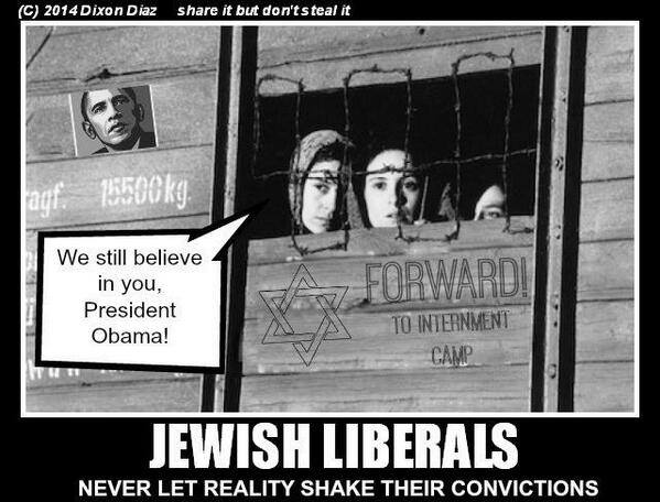 The overwhelming support of Jews for Obama is a great mystery to me. Are they blind?....