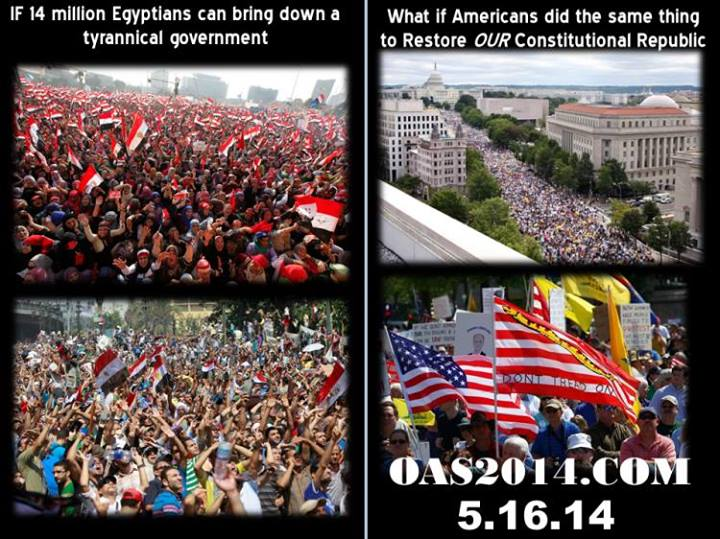 Please be there if you can. Operation American Spring, Washington, DC, May 16, 2014. Help take America back from the Washington parasites! Check the link below for details....