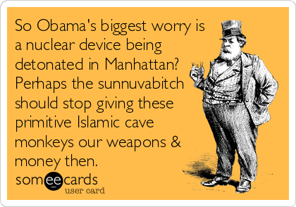 Thanks, Obama voters, for making America and the world a much safer place. YOU SUCK!!!!....