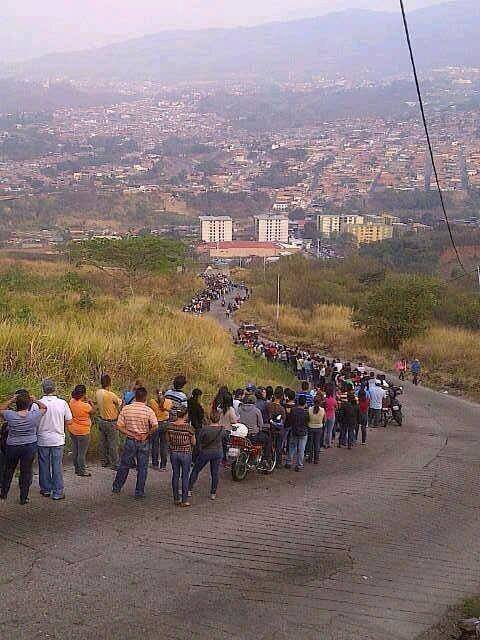 Here is what socialism looks like. People in oil-rich Venezuela in line to receive food. This is where we are headed under liberal leadership (forgive the oxymoron)....