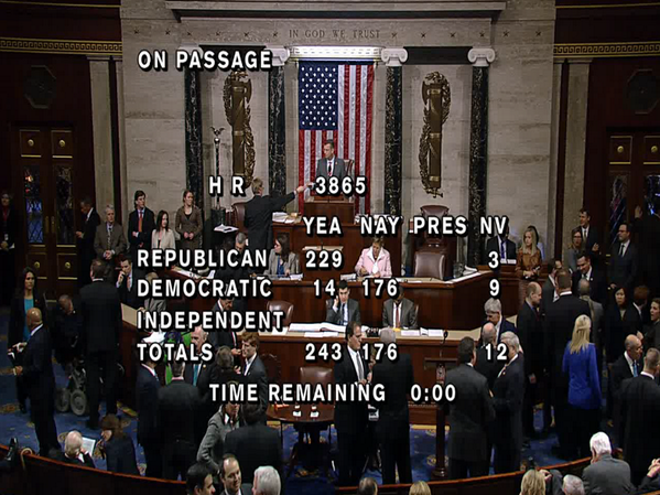 The House just voted to stop IRS targeting based on political beliefs. I can't believe we have to pass legislation to do that. It's like passing legislation declaring that the IRS can't assassinate late filers....