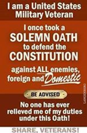 Soldier's Creed, continued. Leaving the United States military does not mean leaving America....