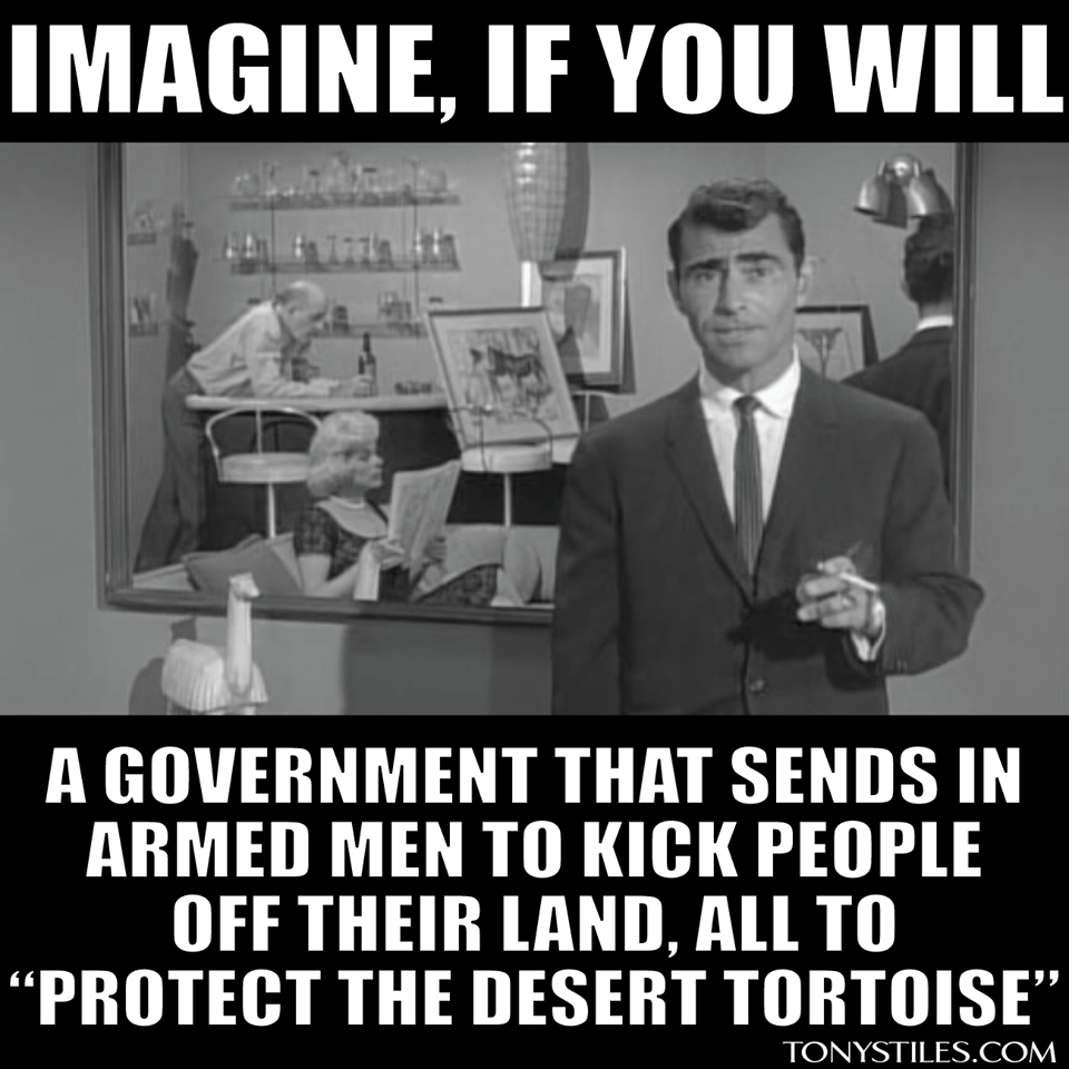 We have entered the Twilight Zone....