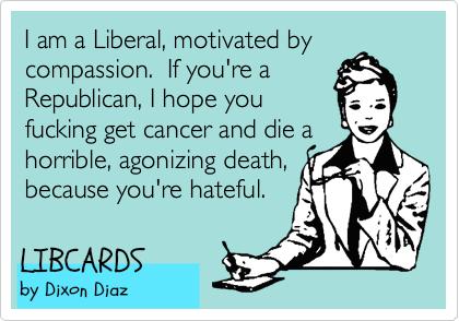 Liberal Hypocrisy 101....