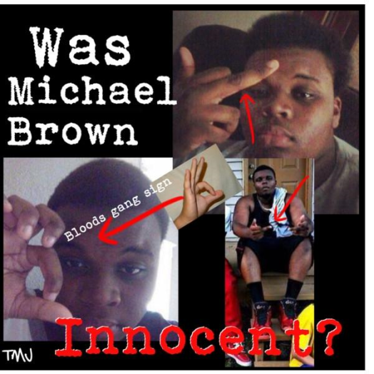Michael-Brown-Gang-Signs-Thug